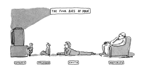 June 17th Drawing - The Four Ages Of Man by Michael Crawford