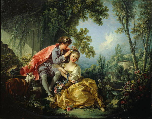 Francois Boucher Painting - The Four Seasons. Spring by Francois Boucher