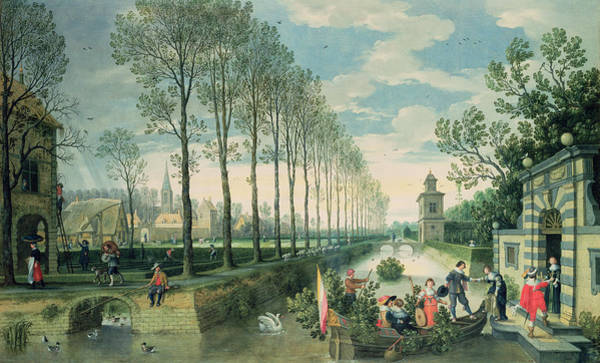 Poplar Painting - The Four Seasons Spring  by Sebastian Vrancx