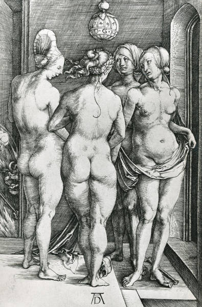 Sensual Drawing - The Four Witches by Albrecht Durer or Duerer