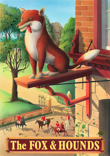 Tavern Painting - The Fox And Hounds by MGL Meiklejohn Graphics Licensing