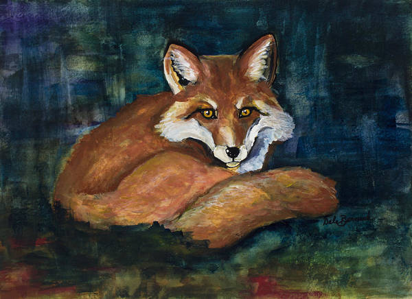 Painting - The Fox by Dale Bernard