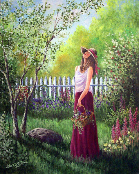 Wall Art - Painting - The Fragrance Of Spring by David G Paul