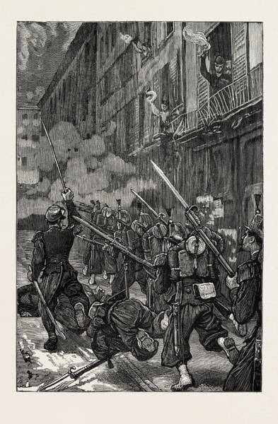 Vive La France Wall Art - Drawing - The Franco-prussian War In Paris During The Fighting Vive by French School
