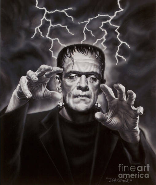 Wall Art - Painting - The Frankenstein Monster by Dick Bobnick