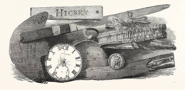 1854 Drawing - The Franklin Relics by English School