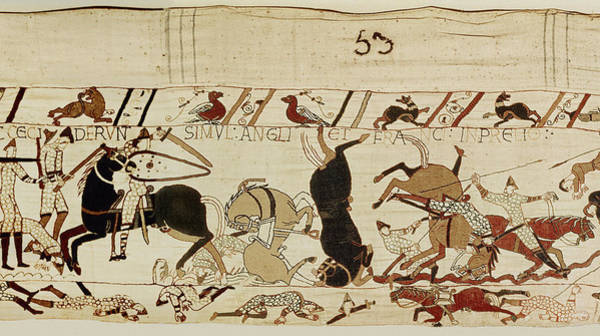 Wall Art - Tapestry - Textile - The Bayeux Tapestry by French School