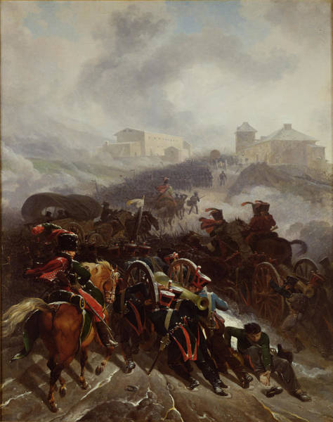 Napoleon Photograph - The French Army Crossing The Sierra De Guadarrama, Spain, December 1808, 1812 Oil On Canvas by Nicolas Antoine Taunay