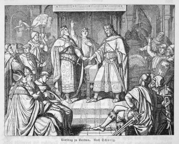 Kingship Wall Art - Drawing - The French Empire Established by Mary Evans Picture Library