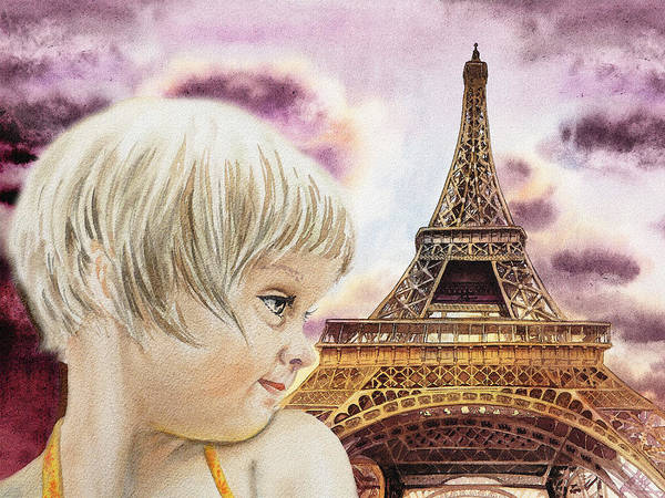 Wall Art - Painting - The French Girl by Irina Sztukowski