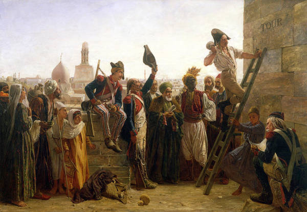 Carving Painting - The French In Cairo In 1800, 1884 by Walter Charles Horsley