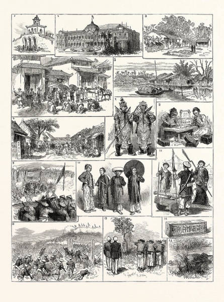 Vietnam Drawing - The French In Tonkin Vietnam 1. Magazine In The Citadel by English School
