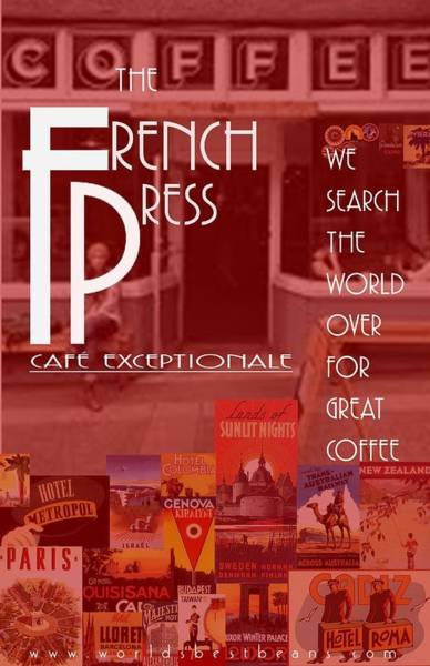Wall Art - Digital Art - The French Press by Steven Boland