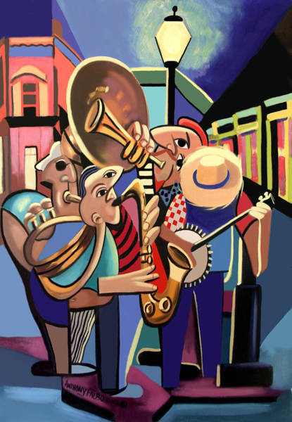 New Wall Art - Painting - The French Quarter by Anthony Falbo