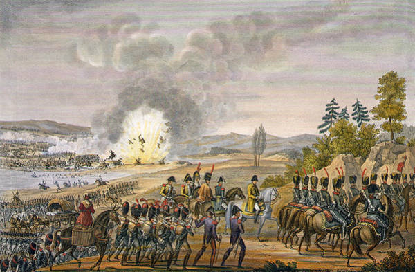 Explosion Drawing - The French Retreat After The Battle by Louis Francois Couche
