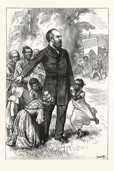 Early American History Drawing - The Friend Of The Freedmen, General Garfield, Engraving by American School