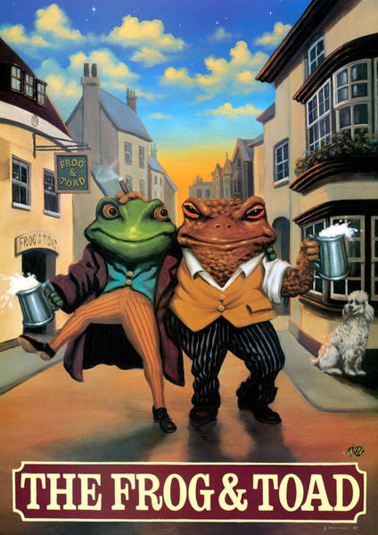 Tavern Painting - The Frog And Toad by MGL Meiklejohn Graphics Licensing