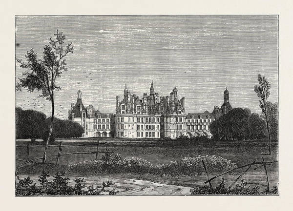 Chateau Drawing - The Front Of The Chateau De Chambord, France by French School