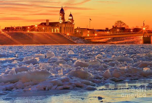 Photograph - The Frozen Susquehanna by Adam Jewell