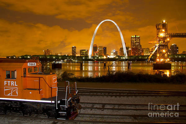 Photograph - The Ftrl Railway With St Louis In The Background by Garry McMichael