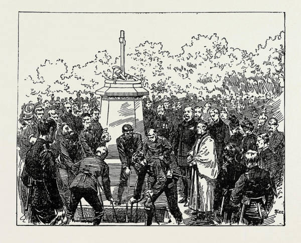 Wall Art - Drawing - The Funeral Of Fireman Jacobs, Uk by Litz Collection