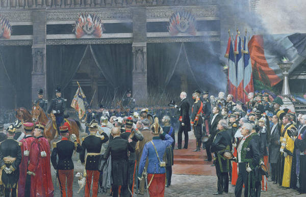Wall Art - Photograph - The Funeral Of Louis Pasteur 1822-95 5th October 1895, 1897 Oil On Canvas by Jean-Baptiste Edouard Detaille