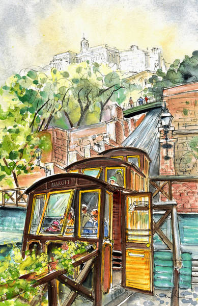 Painting - The Funicular From Budapest by Miki De Goodaboom