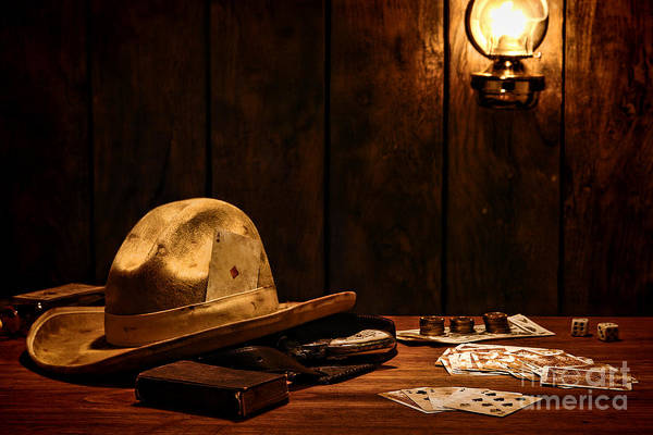 Cowboy Hat Photograph - The Gambler by Olivier Le Queinec