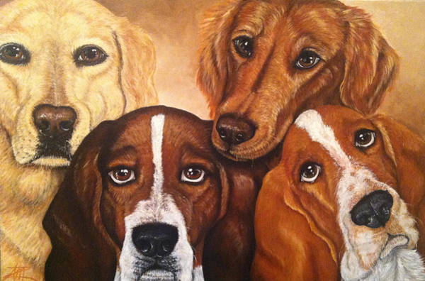 Painting - The Gang by Ana Marusich-Zanor
