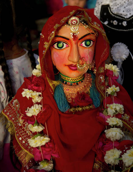 Wall Art - Photograph - The Gangaur Festival Is Celebrated by Jaina Mishra