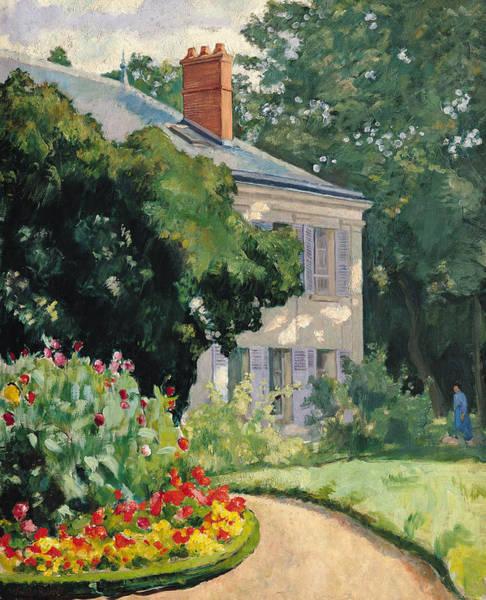 Dappled Light Painting - The Garden At Queue En Bri by Ernest Rouart