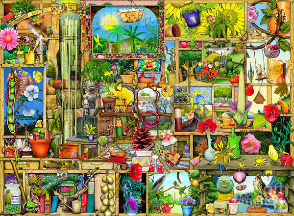 Water Plant Digital Art - The Garden Cupboard by MGL Meiklejohn Graphics Licensing