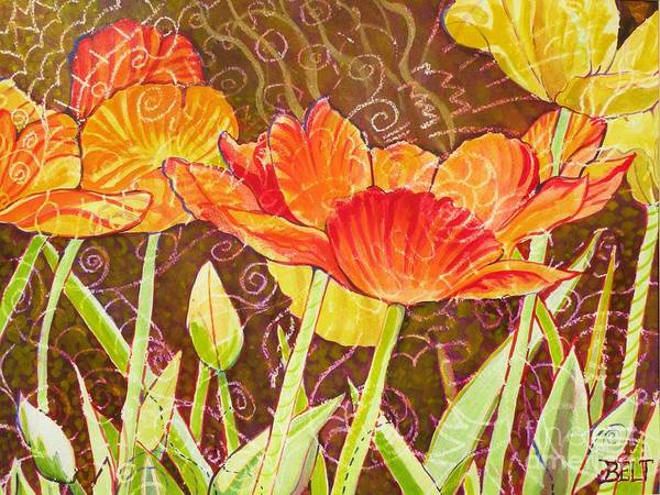 Wall Art - Painting - The Garden Dance by Christine Belt