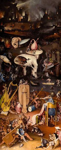 Prado Wall Art - Painting - The Garden Of Earthly Delights - Right Wing by Hieronymus Bosch