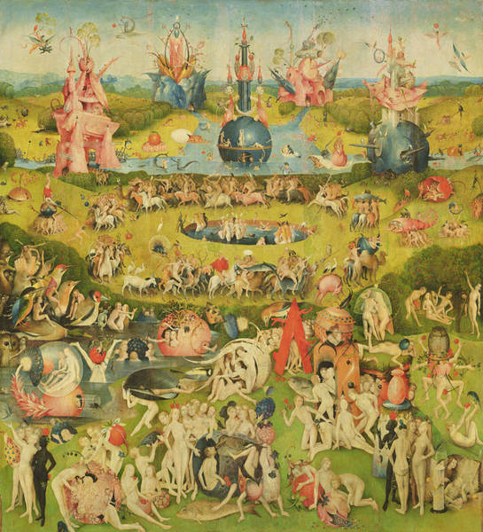 Allegory Photograph - The Garden Of Earthly Delights Allegory Of Luxury, Central Panel Of Triptych, C.1500 Oil On Panel by Hieronymus Bosch