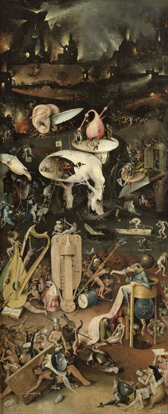 Jardin Photograph - The Garden Of Earthly Delights, C.1500 Oil On Panel Detail Of 3425 by Hieronymus Bosch