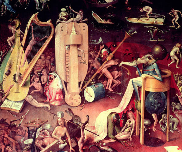 Sin Photograph - The Garden Of Earthly Delights Hell, Detail From The Right Wing Of The Triptych, C.1500 Oil by Hieronymus Bosch