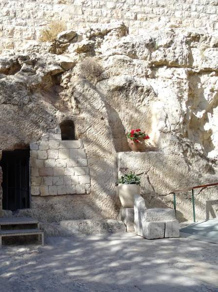 Photograph - The Garden Tomb  In Jerusalem by Karen Jane Jones