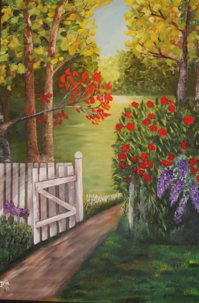 Painting - The Gate by DG Ewing