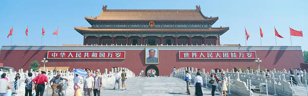 Chinese Flag Photograph - The Gate Of Heavenly Peace Tiananmen by Panoramic Images