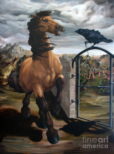 Andalusian Wall Art - Painting - The Gatekeeper by Lisa Phillips Owens