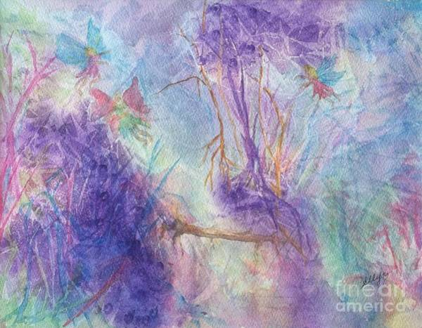 Faerie Painting - The Gathering by Ellen Levinson