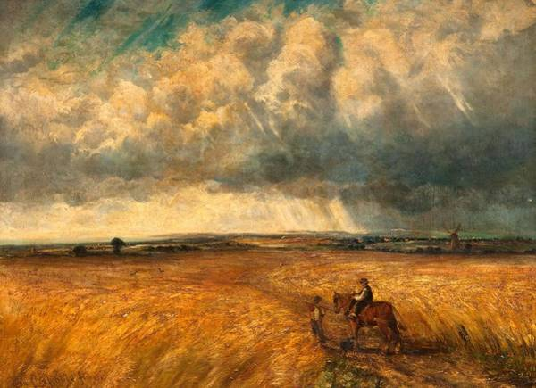 Stormy Sky Painting - The Gathering Storm, 1819 by John Constable
