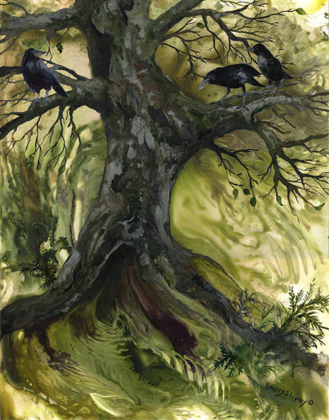 Painting - The Gathering Tree by Sherry Shipley