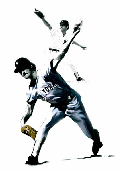 Painting - The Gator  Ron Guidry  by Iconic Images Art Gallery David Pucciarelli