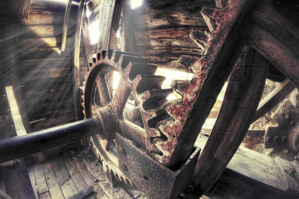 Photograph - The Gears Of Falling Spring Mill - Missouri - Steampunk by Jason Politte