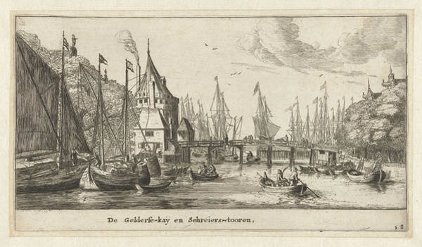 Wall Art - Drawing - The Geldersekade And The Schreierstoren Amsterdam by Reinier Nooms And Cornelis Danckerts I