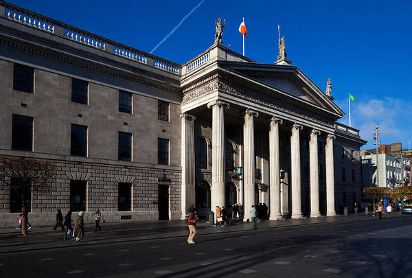 Eire Photograph - The General Post Office , Dublin by Panoramic Images
