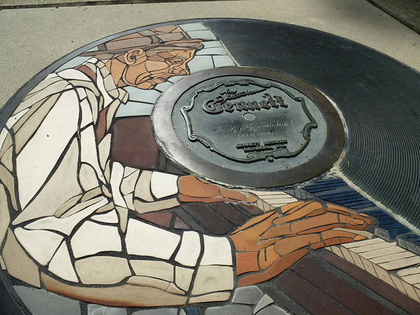 Photograph - The Gennett Walk Of Fame - Hoagy Carmichael by Natasha Marco