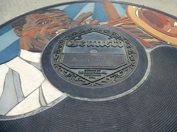 Photograph - The Gennett Walk Of Fame - Louis Armstrong by Natasha Marco